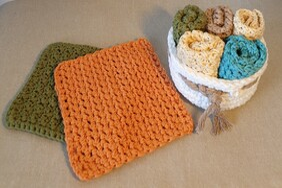 Handmade Cotton Dish Cloths